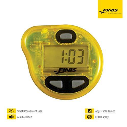 FINIS Erweiterte Akustische Metronom zum Schwimmen Tempo Trainer Pro, Yellow, One Size