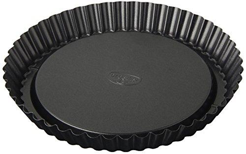 Dr. Oetker Obstkuchenform Ø 22 cm, klassische Backform für köstlichen Tortenboden, Quicheform aus Stahl mit Antihaftbeschichtung, Menge: 1 Stück