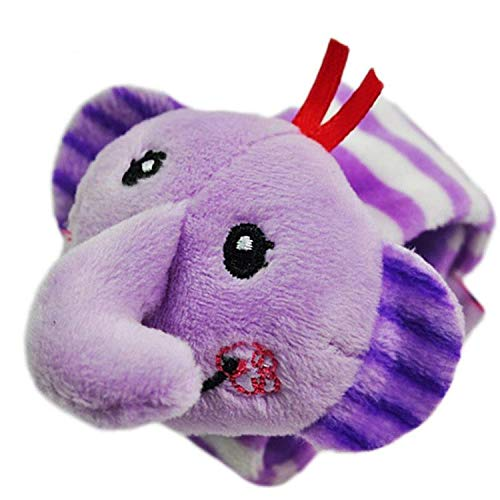 Cheap ZOME Baby Animal Plush Pattern Baby Wrist Band with Rattle Toys