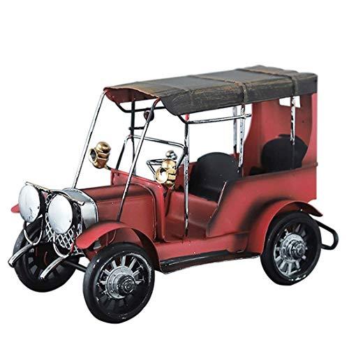 ZLBYB Escultura de decoración: Modelo de vehículo de Hierro Artesanal Vintage, Oficina en casa, decoración de Escritorio, Manualidades de Escultura de Coche