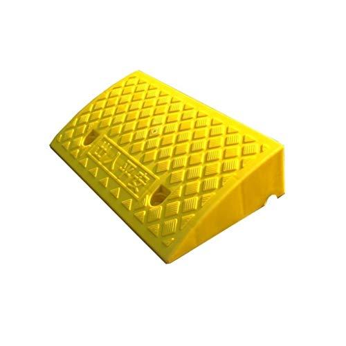 SZQ-Rollstuhlrampe Leichtgewichtler Threshold Pad, Spannung, Steh- Stable Kunststoff Winter-Rampen Dreieck Bulge Schlupf Muster Skaters Rampen Bordsteinrampen (Color : Yellow, Size : 50 * 27 * 9CM)