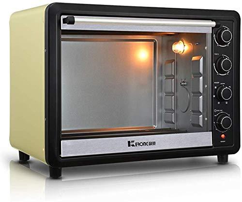 Mini 60 liter elektrische oven met instelbare temperatuur van 250 graden; C en 120 minuten, 2200 W met vier lagen onafhankelijke multifunctionele gezinnenvork, volledige garing.