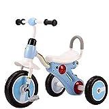 Triciclo Bebe,Coche Triciclo Niño Bicicleta Ligero con Musica Ruedas Gomas Conducción Silenciosa Niños de 6 Meses a 5 Años Máx 30 kg, Blue