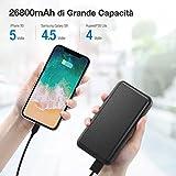 Zoom IMG-1 iesafy powerbank 26800mah caricatore portatile