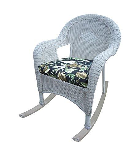 Oakland Living Resin Wicker Rocker with Cushion, Set of 2