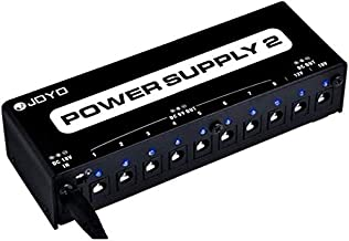 JOYO JP-02 Power Supply 10 Output 9V 12V 18V Options Isolated Short-Circuit Overload Protection for Effect Pedal