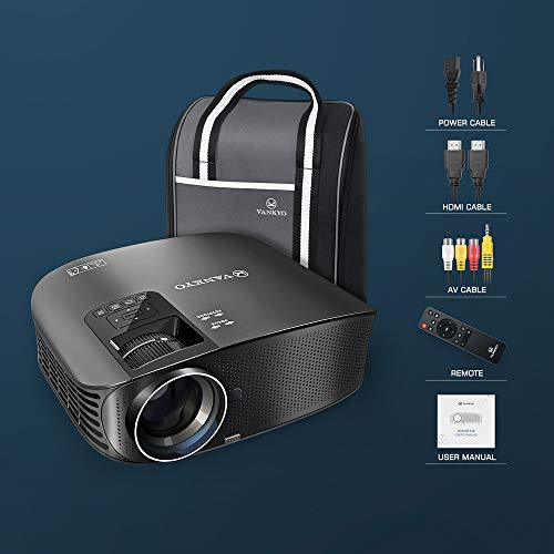 "VANKYO Leisure 510 HD Projector with 4500 Lux, Video Projector with 230"" Projection Size, Support 1080P HDMI VGA AV USB with HDMI Cable and Carrying Bag"