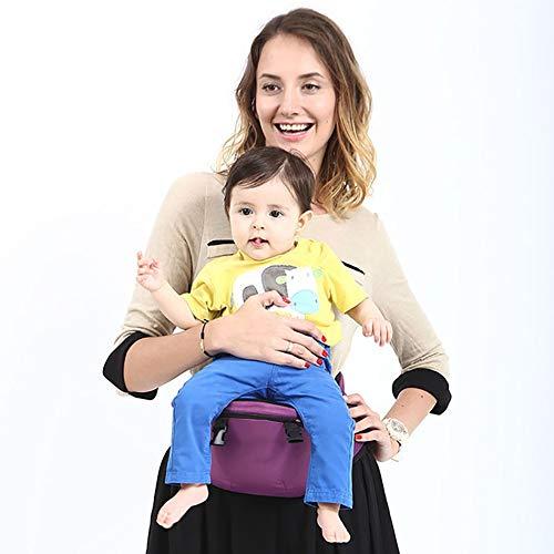 QND,Mochila Bebe,Portabebés para,Portabebé ergonómico con Asiento de algodón multiposición Puro,Ligero y Transpirable,Dorsal,Ventral,Ajustable para bebés y niños de 3 a 48 mesespurple
