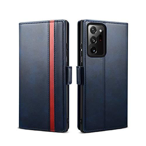 Rssviss Samsung Galaxy Note 20 Ultra Hülle, Handyhülle Samsung Note 20 Ultra PU Leder Case [4 Kartenfächer] mit [Magnetverschluss] [Handy Ständer] Klapphülle Note 20 Ultra Schutzhülle 6,9