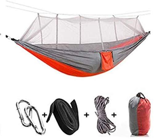 Portátil de Camping al Aire Libre Hamaca, de Alta Resistencia paracaídas Tela con Mosquitera, la...