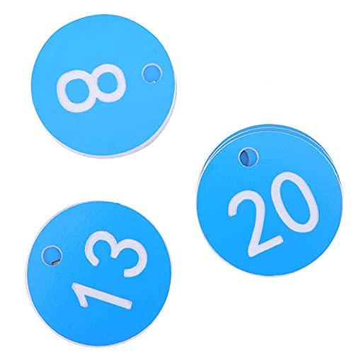 Niiyen Etiquetas numeradas para Ganado de Granja, Apicultura, Colgantes, Etiquetas numeradas, Suministros de cría de Ganado de Granja para Apicultura, cría de Animales(Azul)