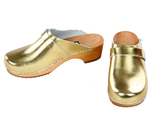 berlin-clogs - Lack Clog, Farbe: Gold, Groesse: 36
