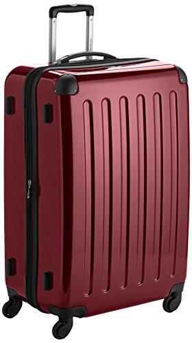 HAUPTSTADTKOFFER - Alex - Hartschalen-Koffer Koffer Trolley Rollkoffer Reisekoffer Erweiterbar, 4 Rollen, 75 cm, 119 Liter, Burgund