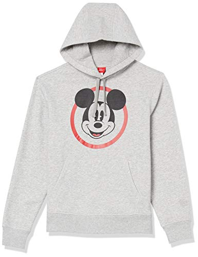 Amazon Essentials Men's Disney Star Wars Marvel Fleece Pullover Hoodie Sweatshirts, Mickey Classic, Medium