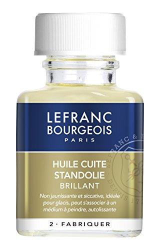 Lefranc & Bourgeois Aceite de linaza standöl, Cuerpo Espeso, para Ondas de Franjas y un geschmeidigen Color Film, Transparente, 75 ml