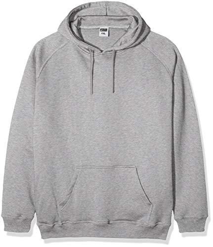 Urban Classics Herren Kapuzenpullover Blank Hoodie, Farbe grey, Größe XXL