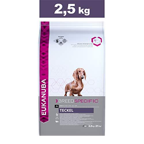 Eukanuba Croquettes Premium pour Chiens Teckel, Welsh Corgi, Petit Basset Griffon Vendéen, Dandie Dinmont Terrier - Recommandé par les vétérinaires - 100% Complètes et Equilibrées - Au Poulet - 2,5kg