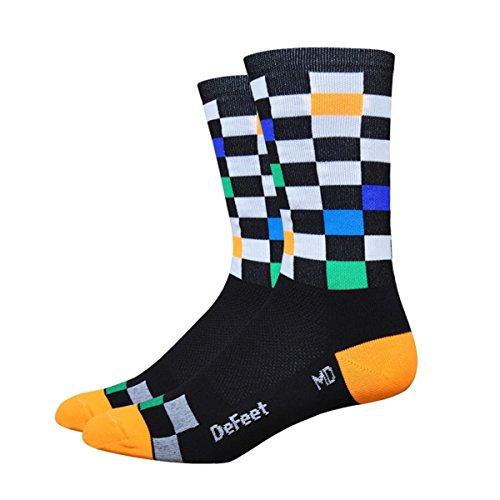Defeet Aireator Fast Times Socken, Unisex-Erwachsene, schwarz, Medium
