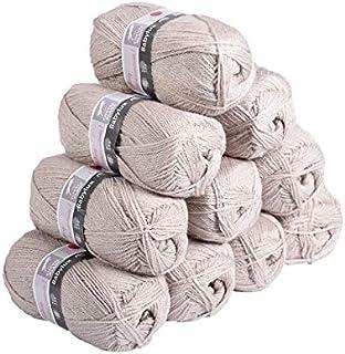 Laines Cheval Blanc - Lot de 10 pelotes de laine BABYLUX (10x50g) 1900m de laine pour bébé 100% acrylique - Laine layette,...
