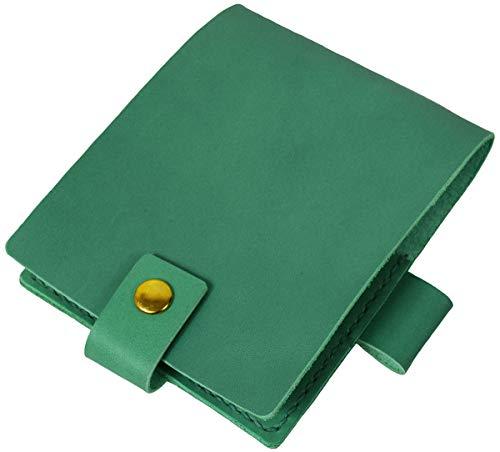 B7 メモ用紙カバー 本革 レザー ティーポレザー ペンホルダー付き B7サイズ ブックカバー B-0178 (ペパーミント(ライトグリーン))