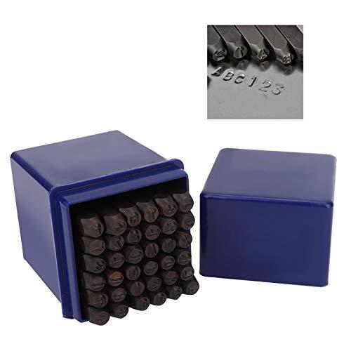 DAUERHAFT Durable 36Pcs / Set Stamp Punch Set con una Caja de Almacenamiento de 3 mm Adecuado para Usar en Metal
