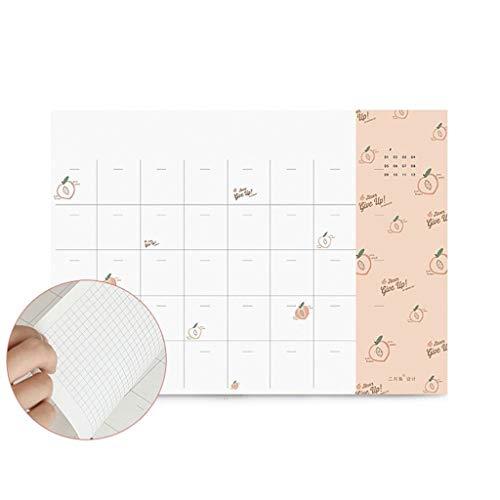 WPBOY Cuadernos Agenda orientada hacia la Meta Diaria, Plan de Combinación 5,9'x2.7 Libro de Planes de Clases y Grados Combina, Secundaria o preparatoria Plan de Cuaderno de Moda (Color : Rice Balls)