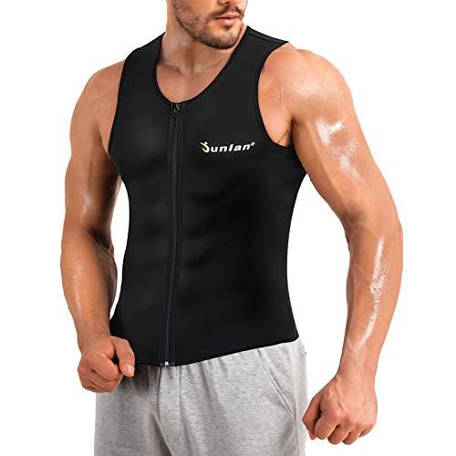 Junlan Men Hot Neoprene Sauna Suit Waist Trainer Vest Corset Body Shaper...