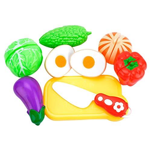Gaddrt Gemüse und Obst Set Spielzeug 8PC Kids Gesundes Modell Küche Lebensmittel Bildung Spielzeug Set