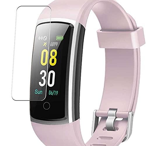 Vaxson 3-Pack TPU Pellicola Protettiva, compatibile con YAMAY HR Fitness Tracker SW336 smartwatch Smart Watch, Screen Protector Film [ Non Vetro Temperato ]