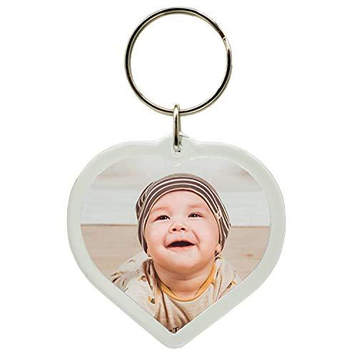 Portachiavi con foto a forma di cuore, personalizzabile con foto a scelta o idea regalo