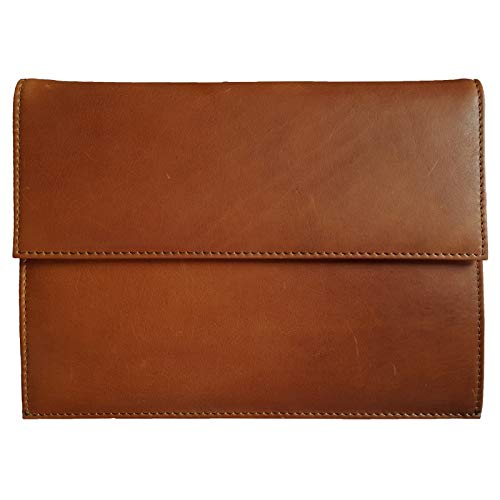 ROYALZ Funda Protectora de Cuero para Apple iPad Air 4 (Apple iPad Air 2020) 10.9 Inch Tablet Sleeve Case Protectora Cover de Vintage, Color:Cognac