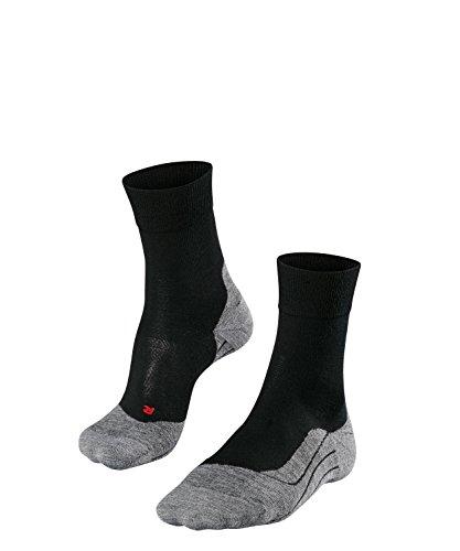 FALKE Herren, Laufsocken RU4 Wool Merinowollmischung, 1 er Pack, Schwarz (Black-Mix 3010), Größe: 44-45
