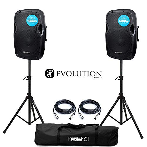 Evolution Audio RZ12A V3 Active 2000W 12' DJ Disco PA Speaker (Pair) with...