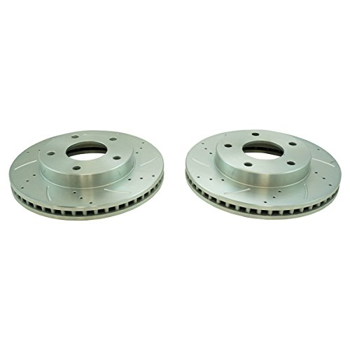 Performance Brake Rotor Drilled & Slotted Zinc Coated Front or Rear