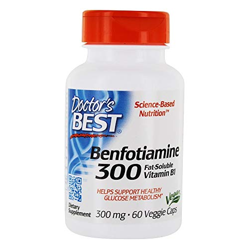 Doctor's Best Benfotiamine with BenfoPure, 300mg, 60 Vegetarian Capsules