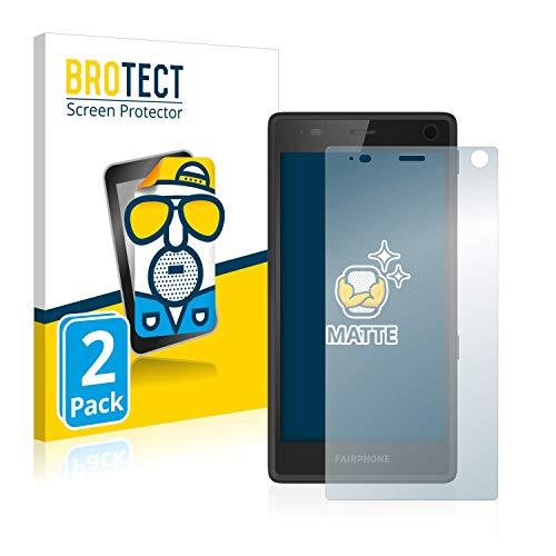 BROTECT 2X Entspiegelungs-Schutzfolie kompatibel mit Fairphone 2 Bildschirmschutz-Folie Matt, Anti-Reflex, Anti-Fingerprint