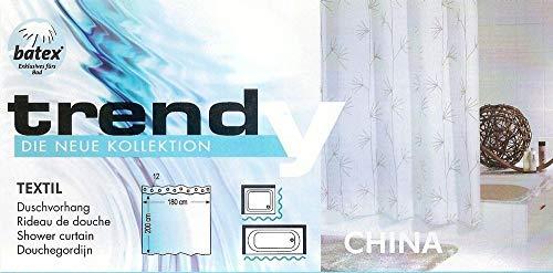 Batex Duschvorhang China 578459 BxH 180x200 cm Badewannenvorhang Wannenvorhang Textilvorhang Dusche Vorhang für die Dusche