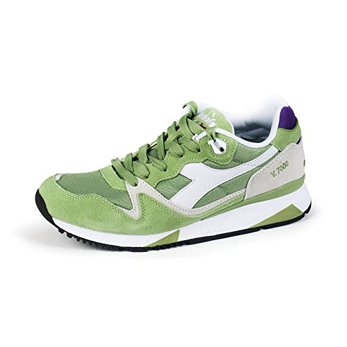 Diadora V7000 NYL Ii Sneaker Scollo Basso Unisex Adulto, Verde (Verde), 4 UK