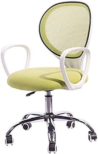 Bürostuhl Rund zurück Back Office Stuhl Swivel Back Mesh Task Chair mit Waffen Ergonomisch Computer Sessel (Color : White, Size : 88 * 60cm)
