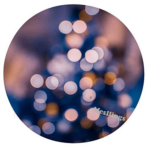 Mesllings - Cojín para silla de oficina con luz multicolor para árbol de Navidad, diseño impreso en el hogar, redondo, cómodo, cojín suave, diámetro de 15.35 pulgadas