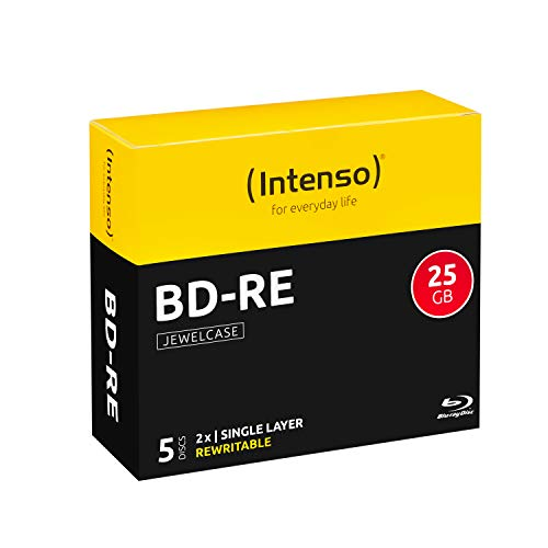 Intenso BD-RE 25GB, 2x Speed, 5er Pack Jewelcase Blu-Ray Rohlinge