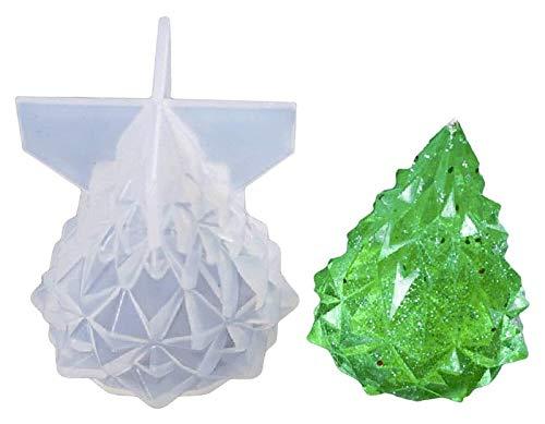 ZHUYU Árbol de Navidad de resina de silicona Moldes navidad resina de epoxy del molde, DIY hecho a mano manualidades encantos de la joyería Herramientas de la luz que hacen Titular de navidad decoraci