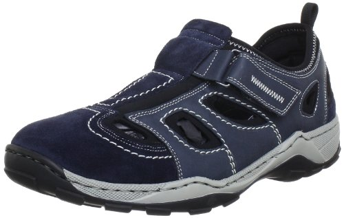 Rieker Herren 08075 Low-Top, Blau (Pazifik/Denim/schwarz / 14), 43 EU