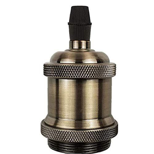 Sanfiyya Bombilla Socket E27 Titular del sostenedor de Bulbo de lámpara Retro Montaje Titular de la Vendimia para la lámpara Pendiente de la luz Adaptador Champaign Oro