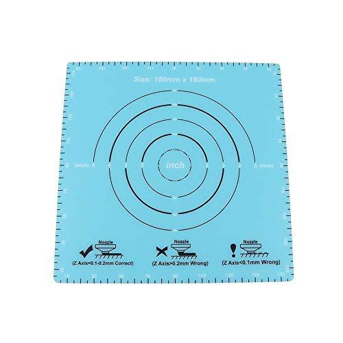 JRUIAN Accesorios de Impresora 2 Piezas de Pegatina de Cama Caliente esmerilada 180x180 mm Etiqueta de Superficie de Cama calefactada Hoja de construcción Placa de construcción para SOOWAY SW