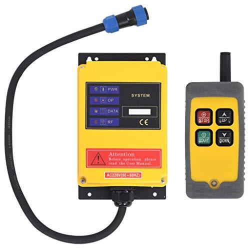 vidaXL Mando a Distancia Inalámbrico para Polipasto Eléctrico Control Remoto Interruptor Grúas...