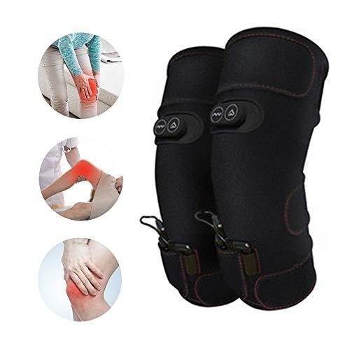 YWLGRX Envoltura de Rodillera eléctrica calentada Rodilleras vibratorias Recargables masajeador para músculos Rotos Recuperación de Lesiones Artritis Menisco Alivio del Dolor