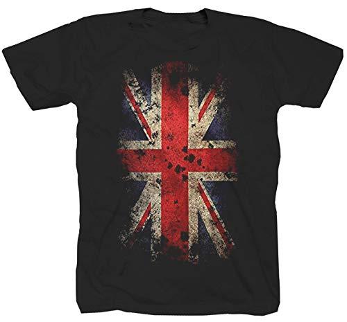 Great Britain vlag Groot-Brittannië vlag zwart T-shirt