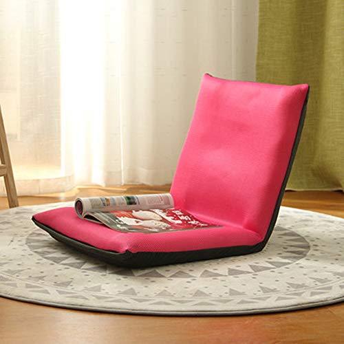 Sofá ajustable Tatami de espuma viscoelástica, silla de juego plegable para casa, oficina, sala de estar con respaldo ajustable, sofá plegable (color naranja, talla L)