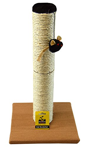 Downtown Pet Supply Deluxe Interactive Cat Scratching Sisal Post and Exerciser for Kitty or Cat Toys (Scratch Pole)